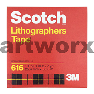 25.4mm x 65.8m Lithographers Scotch Tape Roll