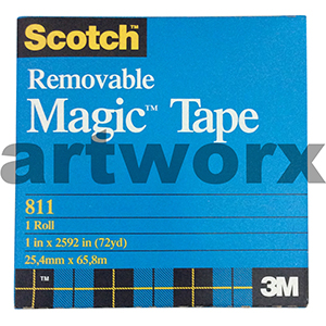 25.4mm x 65.8m Removable Scotch Magic Tape Roll