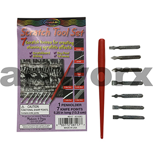 7 Knife Points Scratch Art Tool Set