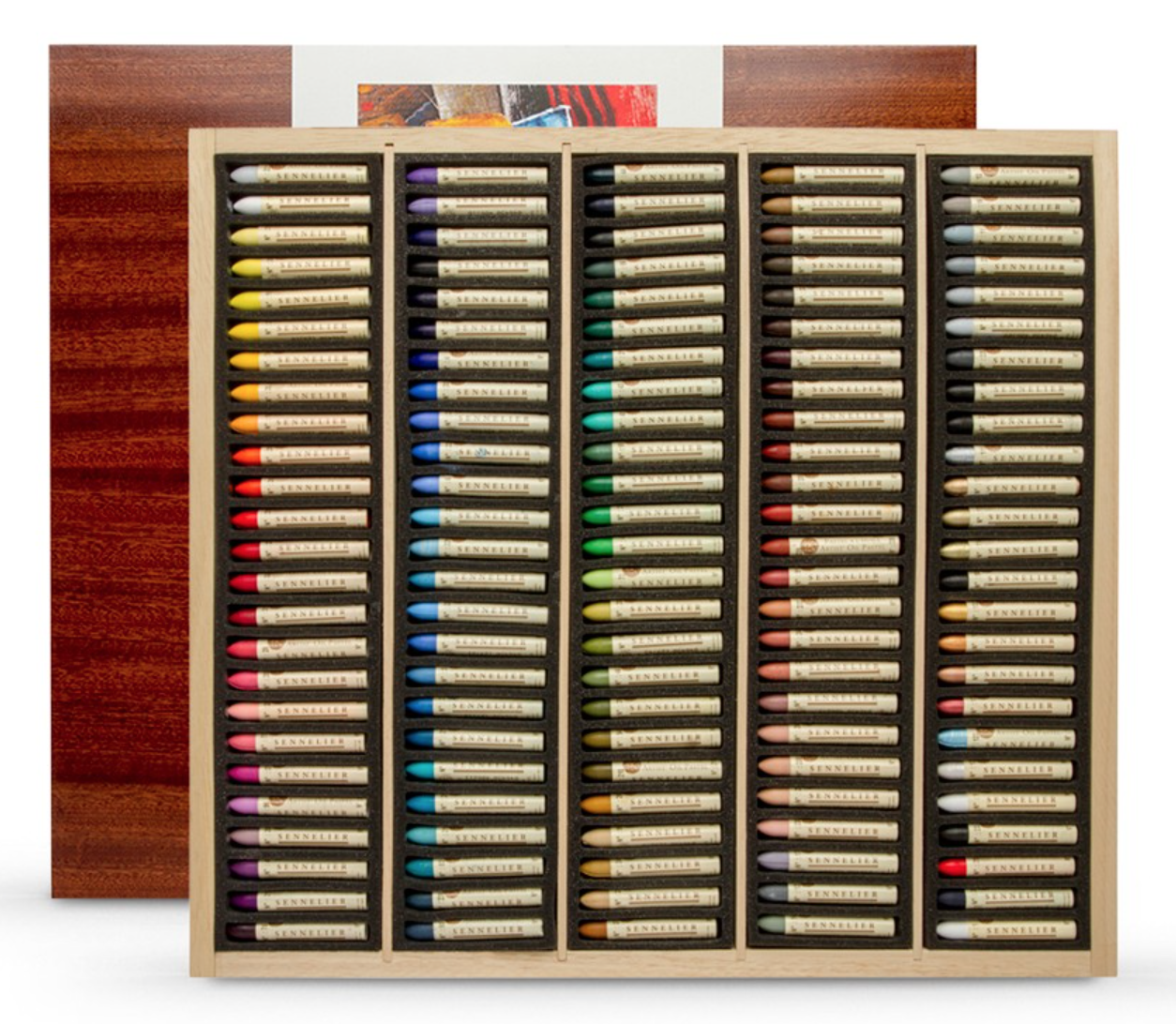 120pc Sennelier Oil Pastel Wooden Box