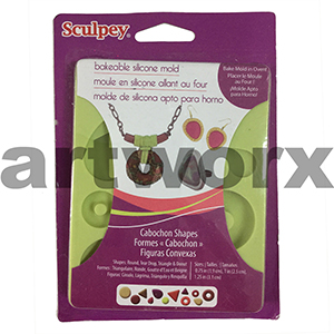 Sculpey Bakeable Silicon Mold Cabochon Shapes