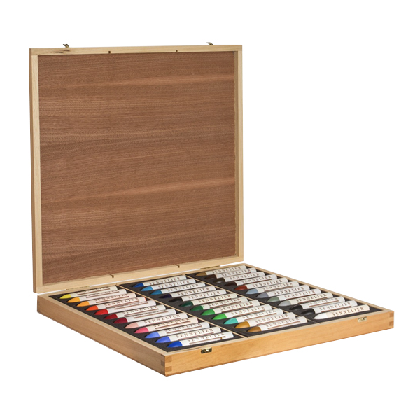 36pc Wooden Box Sennelier Oil Pastels