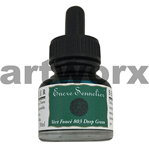Deep Green 803 30ml Encre Shellac Sennelier Ink
