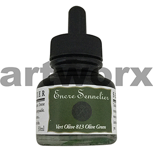 Olive Green 813 30ml Encre Shellac Sennelier Ink