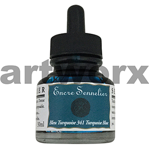 Turquoise Blue 341 30ml Encre Shellac Sennelier Ink
