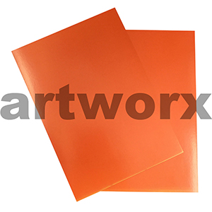 Orange A4 Showcard 280gsm