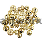 35pce Gold Sleigh Bells Assorted Sizes