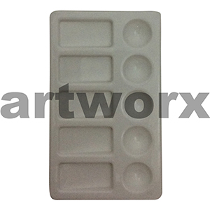 10 Well Plastic Paint Palette 5 Round Wells & 5 Rectangle Wells