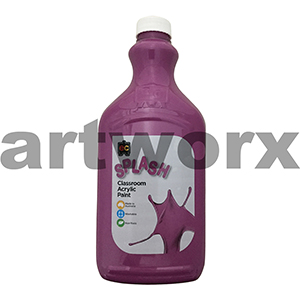 Purple Blast (Purple) 2 Litre Splash Kids Acrylic Paint Bottle