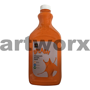 Tangy (Orange) 2 Litre Splash Kids Acrylic Paint Bottle