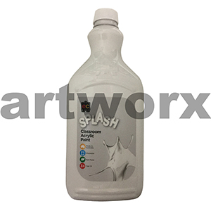 Snowball (White) 2 Litre Splash Kids Acrylic Paint Bottle