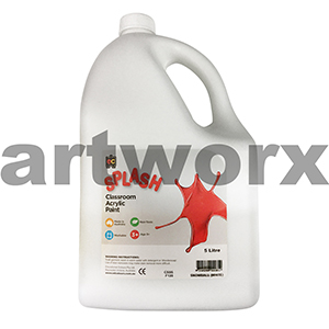 Snowball (White) Acrylic Paint 5 Litre Splash