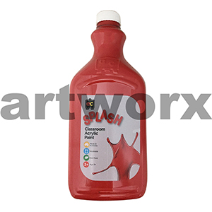 Toffee Apple (Red) 2 Litre Splash Kids Acrylic Paint Bottle
