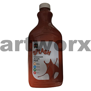 Choc Fudge (Brown) 2 Litre Splash Kids Acrylic Paint Bottle