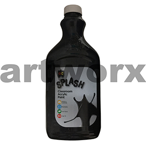 Liquorice (Black) 2 Litre Splash Kids Acrylic Paint Bottle