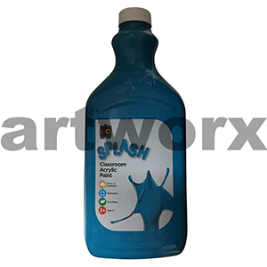 Peppermint (Turquoise) 2 Litre Splash Kids Acrylic Paint Bottle