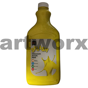 Sunshine (Yellow) 2 Litre Splash Kids Acrylic Paint Bottle