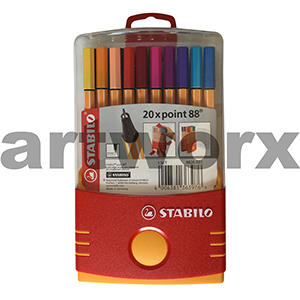 20pc 0.4mm Parade 88 Stabilo Color Fineliners