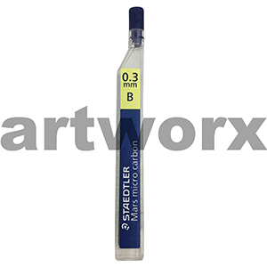 12pc 0.3mm B Mars Micro Carbon Mechanical Pencil Leads Staedtler