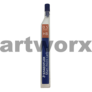 12pc 0.5mm HB Mars Micro Carbon Mechanical Pencil Leads Staedtler