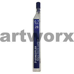 12pc 0.7mm 2B Mars Micro Carbon Mechanical Pencil Leads Staedtler