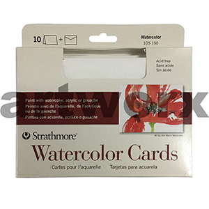 Strathmore Water Colour Cards 10pcs