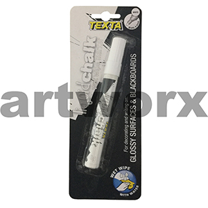 4.5mm White Glossy Surfaces & Blackboards Texta Liquid Chalk Marker
