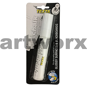 15mm White Glossy Surfaces & Blackboards Texta Liquid Chalk Marker