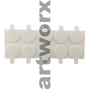 The Candle Lab Stickums Stick on Tabs For bottom of Wick 20mm Pk 10