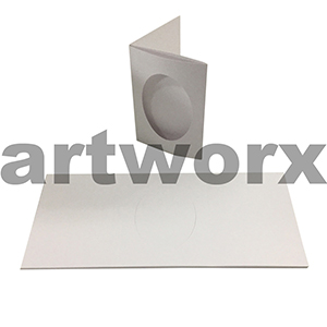White Oval 3 Fold C6 Cards & Envelope 10pcs Upikit 5 Cards & 5 Envelopes