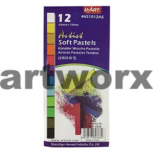 12pc Standard Colours U Art Pastels