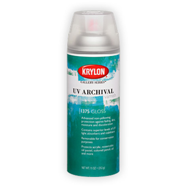UV Archival Varnish Satin 311g Krylon Spray
