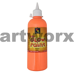 Orange Educational Colours Glow in the Dark UV Paint 500ml