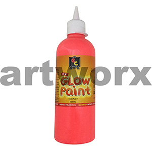 Scarlet Educational Colours Glow in the Dark UV Paint 500ml