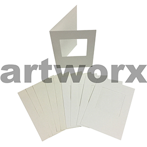 Cream Square Cut C6 Cards & Envelope 10pcs Upikit 5 Cards & 5 Envelopes