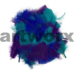 Value Craft - Feather Pack - 10gm - Blue, Purple & Green-Aqua