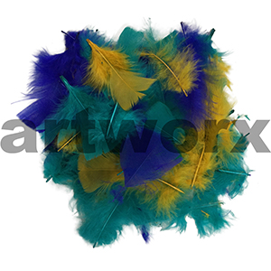 Value Craft - Feather Pack - 10gm - Teal, Yellow & Blue