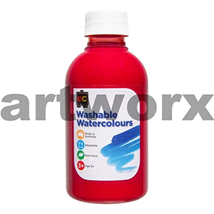 Red Washable Watercolours EC 250ml