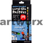 12pc Watersoluable Large Oil Pastels Micador