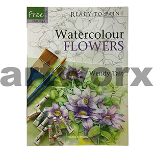 Ready to Paint Watercolour Flowers Book by Wendy Tait