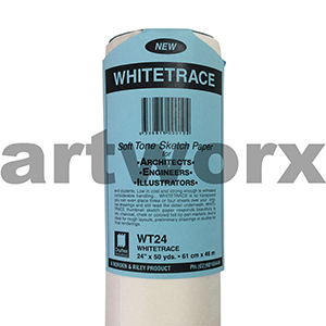 """24x50"""" Whitetrace White Engineers Tracing Paper"""