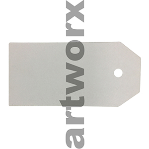 White Satin Tags 25x42mm Sheet of 9