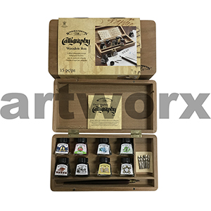 Winsor & Newton Wooden Box Calligraphy Set 15pc