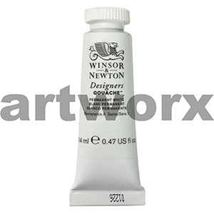 Permanent White 14ml Winsor & Newton Designers Gouache Paint