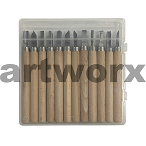12pc Lino & Wood Carving Tools