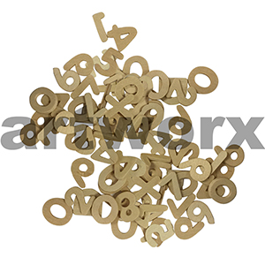 Wooden Letters & Numbers - 2.1cm