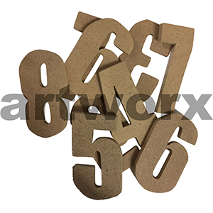 Wooden Numbers 8.5cm Each