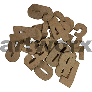 Wooden Numbers 6cm Each