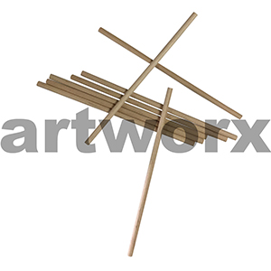 150mm & 0.50 Diameter Short Wooden Sticks Round