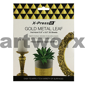 140x140mm 25pcs Gold Imitation Leaf X-press It